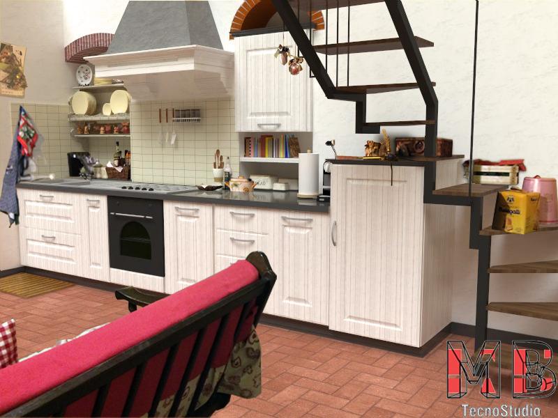 Ipotesi di Arredamento Cucina Stile Shabby Chic – Asciano – MB ...